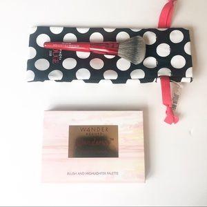 NWT Wander Beauty palette & Sephora pro mini brush
